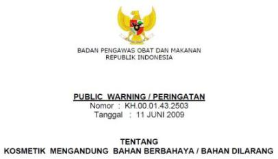 Public Warnig Kosmetik Berbahaya